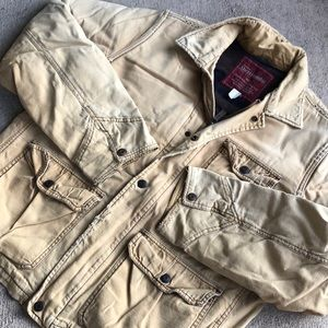 Abercrombie Fitch Canvas Jacket Large Wool Lined